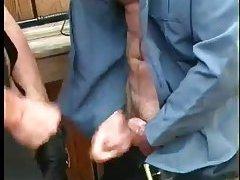 Hot Cops Enjoys Sucking Outdoor