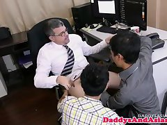 Young pinoy barebacked by daddy in trio