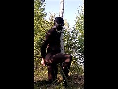 Bondage in forest 3