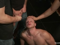 Brian Bonds gets shackled and fucked hard in public