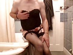 sexy black lingerie