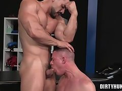 Muscle bear anal with anal cumshot