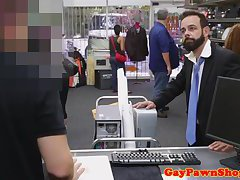 Mature pawnee jizzed on in his beard for cash