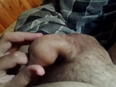 Playing with my foreskin 3