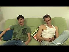 Stripped Trio Blowing Dicks