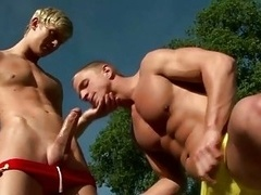 Hot male-female pornstar fills mouth with cock