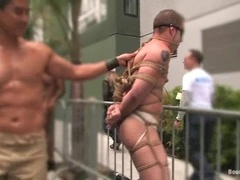 Van Darkholme enjoys being tied up and humiliated in the street