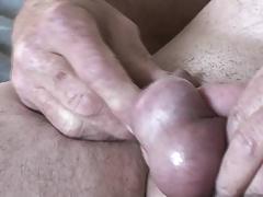 Littlegeorgie ball twisting and Cum