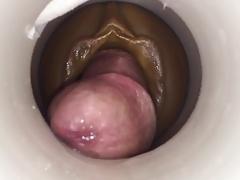 Orgasm by cum cam man