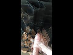 Boots and heels cummed!