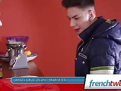 Angel Cruz and Baptiste Garcia Sperm Shower