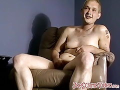 Ugly chubby guy and skinny butt pirate have a fuck session