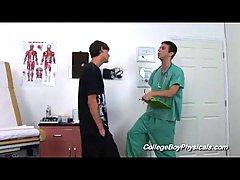 Gay Doctor Palping Slim Guy