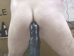 BubbleButt JoeyD Bounces On Dildo Very Vocal Anal