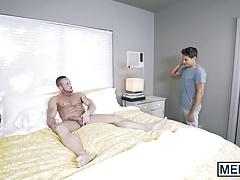 Straight guy Myles Landon cheats his wife with homo Titus
