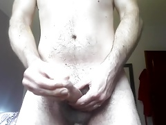 stroking & huge cum load