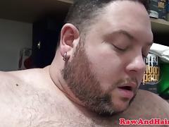 Pierced superchub masturbates in stock closet
