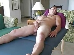 Massage & blow off str8 guy