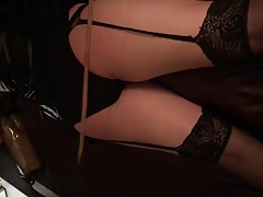 MISTRESS caning her sissy slave