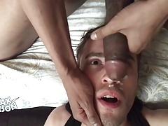 Sucking big black cock