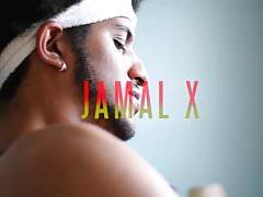 Jamal jacking his massive dick