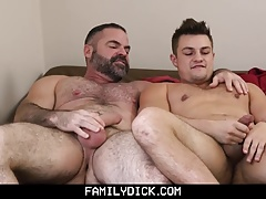 Family Dick - Caught Watching Gay Porn by Daddy