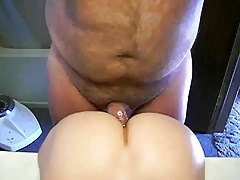 hairy daddy and his sex toy
