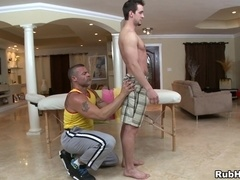 Trace Michaels sucks Phenix Saint's dick and takes it in his gay ass