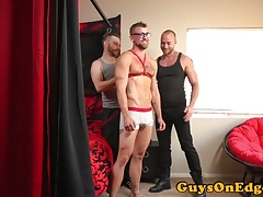 BDSM doms deepthroat and jerk spex subs cock