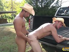 Luke ram his tight hairy hole in the truck