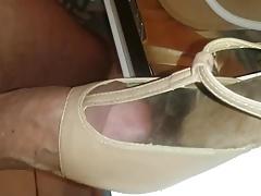 Sweaty dance shoes got fat cock