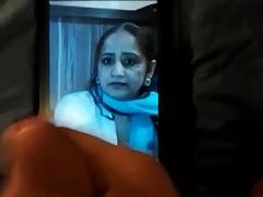 Pakistani aunty cummed on