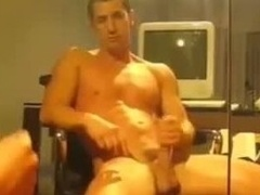 Hunk Jerks Off and Shoots His Load Hard