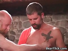 Gay bears having sex in the cabin