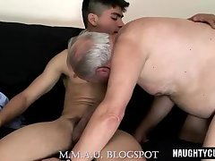 Big cock daddy anal with cumshot