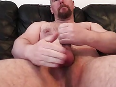 PopperBear Couch Solo & Cum