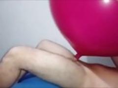 Balloon inflatable fuck cum inside