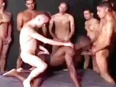 Black Dudes Loves To Ride White Cock