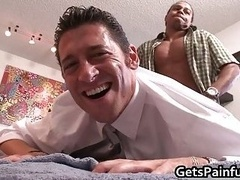Lucky fella gets huge penis up his booty 5