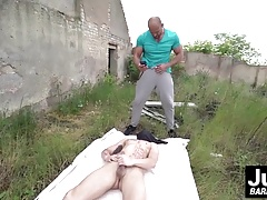 Hot and tight ass Mike getting Tomms massive white dick