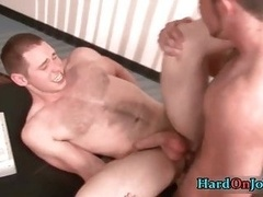 Extreme dick sucking and fucking at the job gay