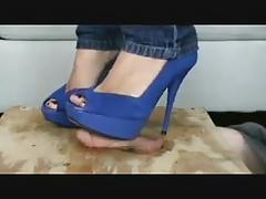 heels trample cock