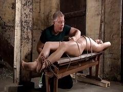 BDSM menial man-loving boy tickled & milked schwule jungs