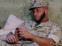 Bulit gay soldiers jizz