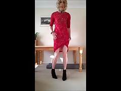 sexy red boutique dress