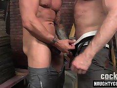 Hot daddy bareback and anal cumshot