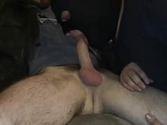 Cocksucker with the guy he met at the gym deep throat CIM