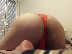 Thong bubble butt sissy orange