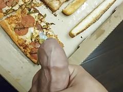 Cumming on Pizza