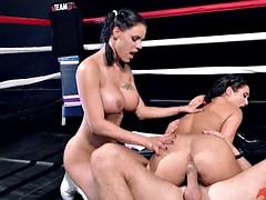 Peta Jensen and Eva Lovia XXX Porn Battle in the arena
